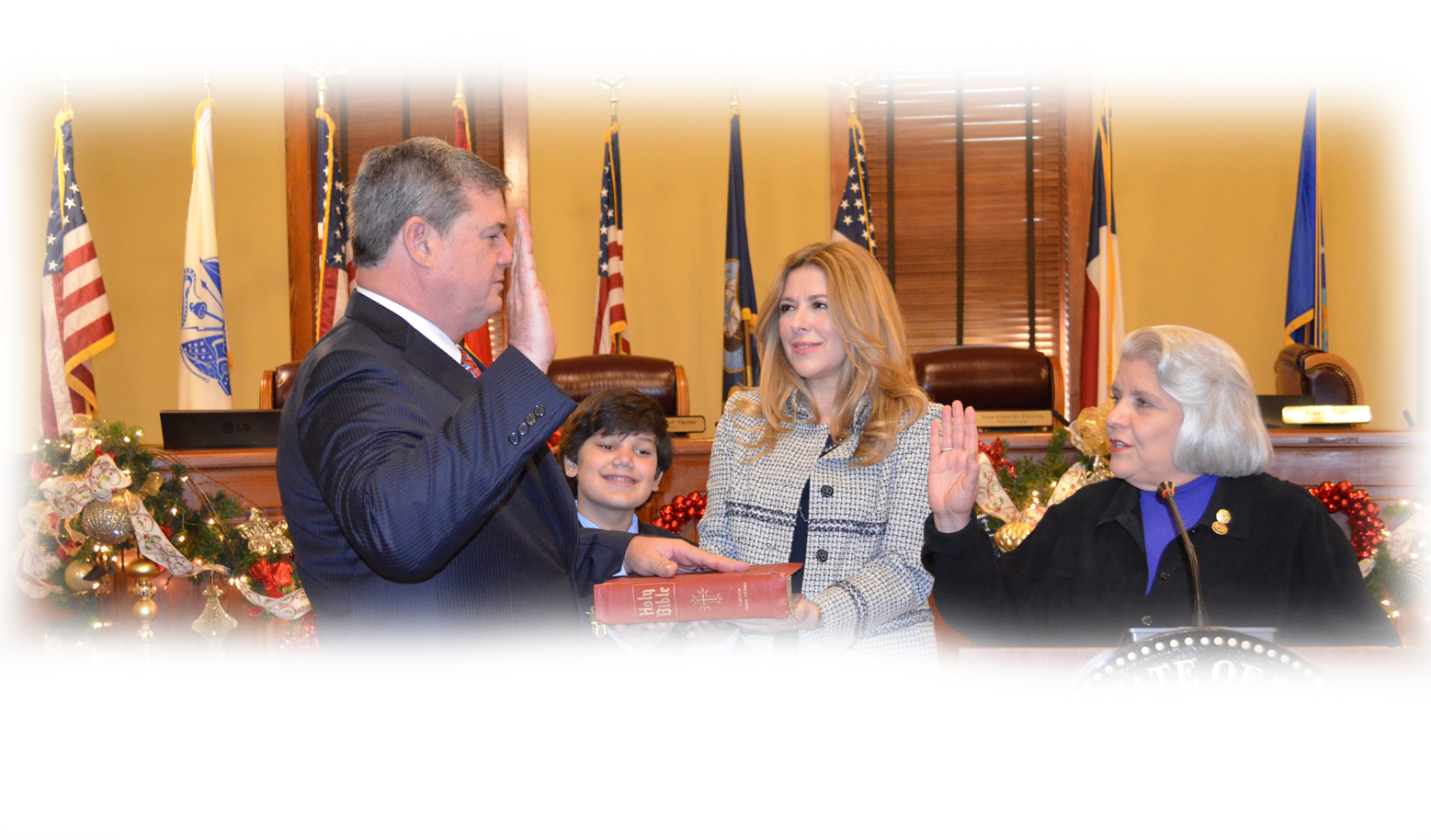 Commissioner John Galo being sworn in picture