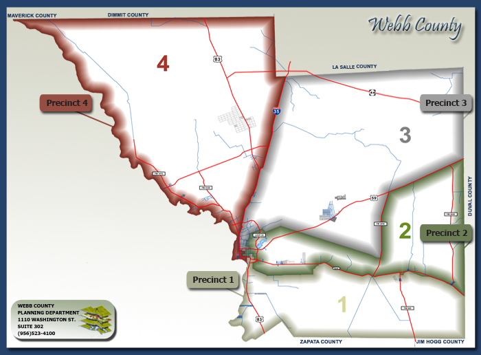 Map Of Texas Laredo.Commissioner Precinct Maps